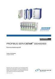 PROFIBUS SERVOSTAR 300/400/600