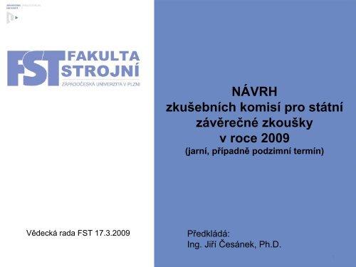 Doc. Ing. Martin Hynek, Ph.D. – ZČU Plzeň, KKS