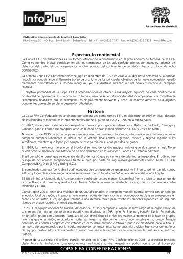 COPA FIFA CONFEDERACIONES - FIFA.com