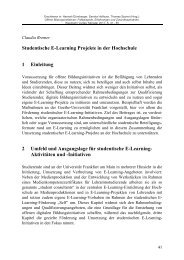 Studentische E-Learning Projekte in der Hochschule - Claudia Bremer