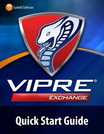 VIPRE Email Security for Exchange Quick Start Guide