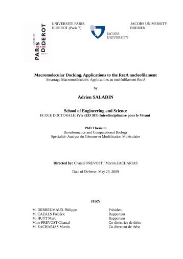 Adrien SALADIN - Jacobs University