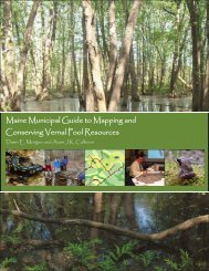 The Maine Municipal Guide to Mapping and Conserving Vernal Pools.