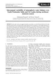 Interannual variability of atmospheric water balance over South ...
