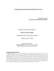 Enlargement and the International Role of the Euro Paper presented ...