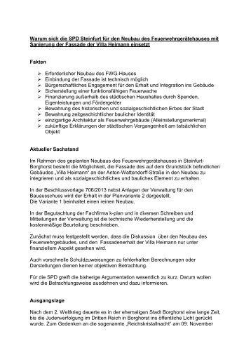 Warum sich die SPD Steinfurt für den Neubau des ... - SPD in Steinfurt