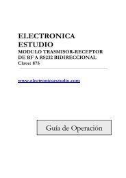 Modulo Transmisor-Receptor de RF a RS232 bidireccional ...