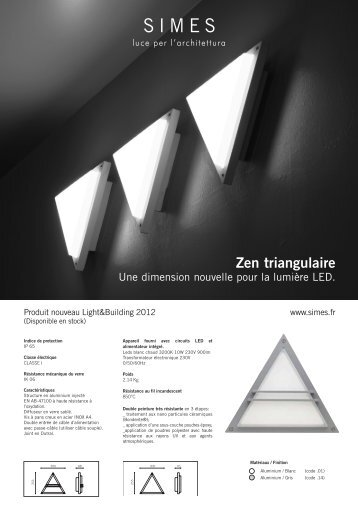 Zen triangulaire - SIMES SpA
