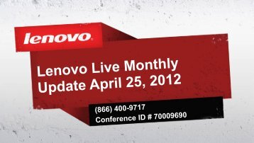 Introduction and Channel Programs - Lenovo Partner Network
