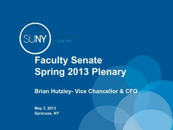 Budget Update - The State University of New York