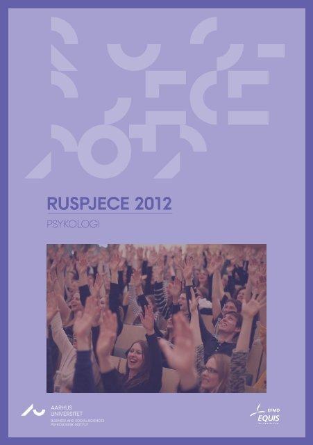 RUSPJECE 2012 - For Studerende - Aarhus Universitet