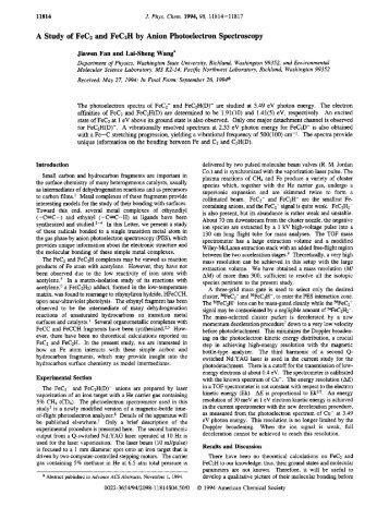A Study of FeC2 and FeCzH by Anion Photoelectron Spectroscopy