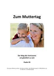 Zum Muttertag - Chrischona Gemeinde Affoltern