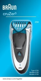 cruZer3 - Braun Consumer Service spare parts use instructions ...