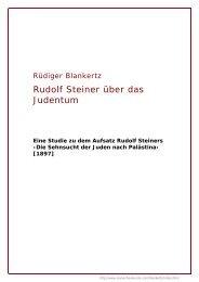 Rudolf Steiner über das Judentum