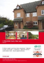 1 Merefield Court, Bow Lane