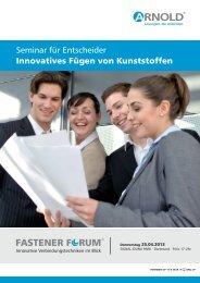 Seminar für Entscheider Innovatives Fügen von Kunststoffen ...