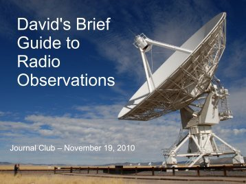 David's Brief Guide to Radio Observations - Department of Physics ...