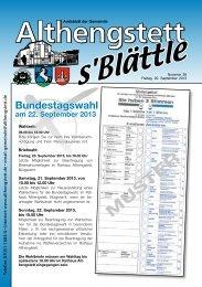 KW 38/2013 - Althengstett