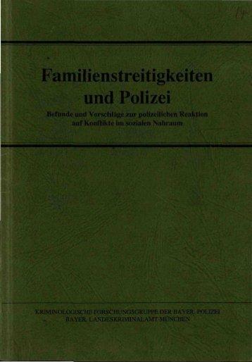 Familienstreitigkeiten und Polizei - Polizei Bayern