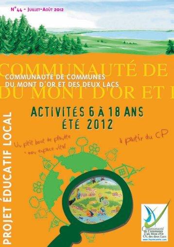 n°44 - juillet-août 2012 - Communauté de Communes du Mont D'Or ...