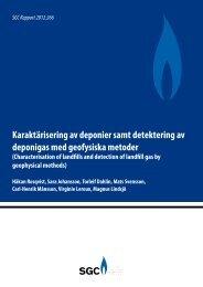 SGC Rapport 266 Karaktärisering av deponier samt detektering av ...
