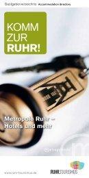 Gastgeberverzeichnis Metropole Ruhr 2014