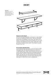 Regale für jeden Bedarf Die EKBY Serie bietet Regalböden ... - Ikea