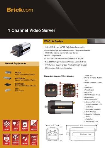 1 Channel Video Server VS-01A Series - Brickcom