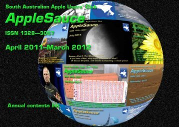 AppleSauce, April 2011–March 2012 - South Australian Apple Users ...