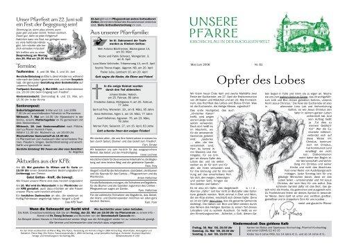 Amtliche Nachrichten der Stadtgemeinde Kirchschlag in der