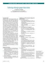 Soforttyp-Allergie gegen Naturlatex - dgaki