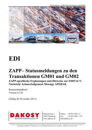 ZAPP-Statusmeldungen im EDIFACT-Format - DAKOSY ...