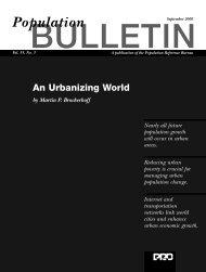 Urbanizing World - Population Reference Bureau