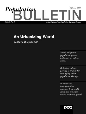 Urbanizing World - Population Reference Bureau