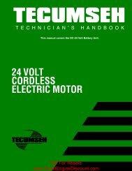 24 VOLT CORDLESS ELECTRIC MOTOR - SmallEngineDiscount.com