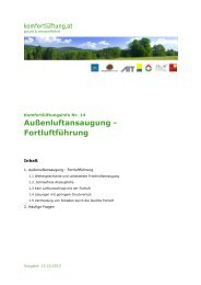 komfortlüftung.at - Info Nr. 14 Außenluftansaugung - Fortluftführung ...