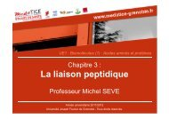 La liaison peptidique - Université Virtuelle Paris 5