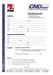 ipass Bestellformular - CND Gmbh