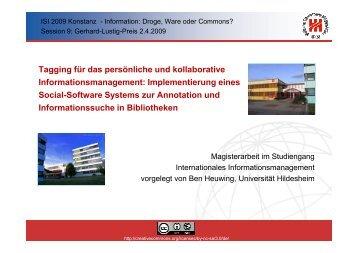 Tagging für das persönliche und kollaborative ... - ISI 2009