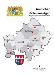 Schulanzeiger Juli 2013 - Regierung von Unterfranken - Bayern