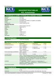 SIKKERHETSDATABLAD KCL Autoshampo - Kolberg Caspary ...