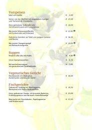 Vorspeisen Suppen Vegetarisches Gericht Fischgerichte