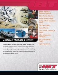 Aggregate Products Line Card - IBT, Inc.