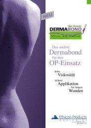 Dermabond OP-Einsatz - Ethicon Products