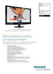 221E2SB/00 Philips LCD-skærm med touch-kontrol - PROconsult ...