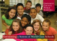 Envisioning a System of World-Class Schools (pdf - Gwinnett County ...