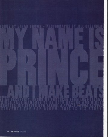 Prince Paul; Oral History of hip-hop producer - Ethan Brown