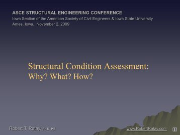 Structural Condition Assessment: - Conference Planning and ...