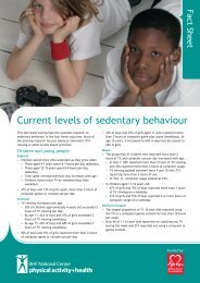 Current levels of sedentary behaviour - BHF National Centre ...